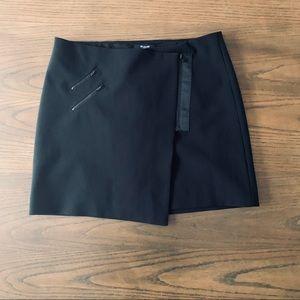 Madewell Black Ignition Miniskirt Zip Pockets Wrap
